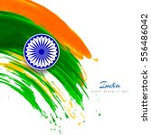 watercolor style indian flag...   Shutterstock .eps vector #556486042