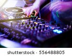 dj playing music at mixer... | Shutterstock . vector #556488805