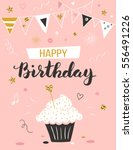happy birthday greeting card... | Shutterstock .eps vector #556491226
