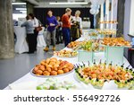 beautifully decorated catering... | Shutterstock . vector #556492726
