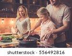 cute little girl and her...   Shutterstock . vector #556492816
