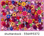 hippies colorful vector... | Shutterstock .eps vector #556495372