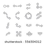 set of arrows linear design.... | Shutterstock .eps vector #556504312