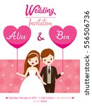 wedding invitation card... | Shutterstock .eps vector #556506736