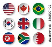 set of world flags round badges ... | Shutterstock .eps vector #556507402