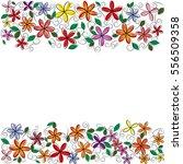 Vector Flowers Frame