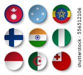 set of world flags round badges ... | Shutterstock .eps vector #556512106