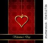 elegant classic valentine's day ... | Shutterstock .eps vector #556512736