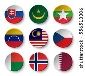 set of world flags round badges ... | Shutterstock .eps vector #556513306