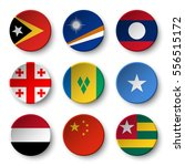 set of world flags round badges ... | Shutterstock .eps vector #556515172