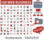 100 web business signs. vector | Shutterstock .eps vector #55651915