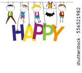 boys and girls with the word... | Shutterstock .eps vector #556521982
