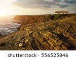 house in the cliff on the... | Shutterstock . vector #556525846