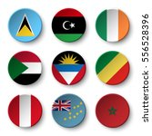 set of world flags round badges ... | Shutterstock .eps vector #556528396