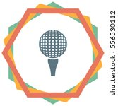 golf vector icon. ball sign.... | Shutterstock .eps vector #556530112