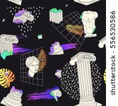 pattern with ancient greek... | Shutterstock .eps vector #556530586