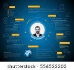 vector original minimalist cv... | Shutterstock .eps vector #556533202
