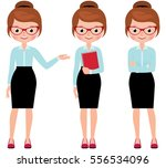 business woman in full length... | Shutterstock .eps vector #556534096