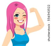 beautiful young strong... | Shutterstock .eps vector #556543522