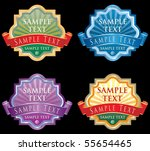 vector labels for various... | Shutterstock .eps vector #55654465
