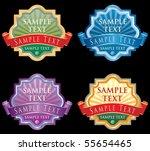 vector labels for various... | Shutterstock .eps vector #55654465