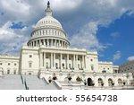 outdoor view of us capitol in... | Shutterstock . vector #55654738