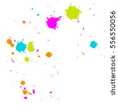 realistic colorful blobs... | Shutterstock .eps vector #556550056