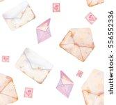 watercolor valentine's day... | Shutterstock . vector #556552336