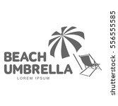 logo template with beach... | Shutterstock .eps vector #556555585