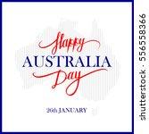 happy australia day... | Shutterstock .eps vector #556558366