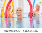 group  or young and senior... | Shutterstock . vector #556561336