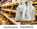 stand with cellophane plastic... | Shutterstock . vector #556569055