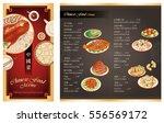 chinese food menu design... | Shutterstock .eps vector #556569172