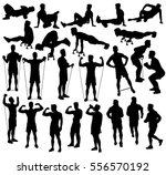 collection of different... | Shutterstock .eps vector #556570192