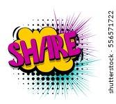 lettering share web link. comic ... | Shutterstock .eps vector #556571722