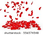 Stock photo rose petals fall to the floor isolated background 556574548