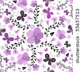 seamless floral white pattern... | Shutterstock .eps vector #55657513