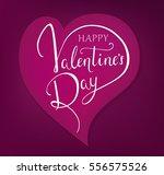 "lettering ""happy valentine's...   Shutterstock .eps vector #556575526"
