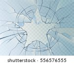 vector broken glass shattered... | Shutterstock .eps vector #556576555