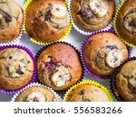 homemade organic banana muffins ... | Shutterstock . vector #556583266