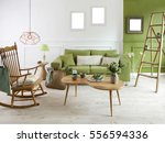 natural wood furniture green... | Shutterstock . vector #556594336