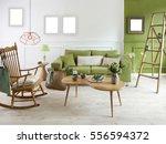 natural wood furniture green... | Shutterstock . vector #556594372