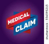 medical claim arrow tag sign. | Shutterstock .eps vector #556595215