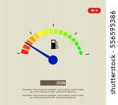 fuel level sensor in the tank ... | Shutterstock .eps vector #556595386