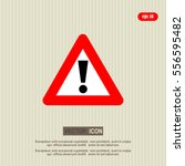 exclamation  sign   danger ... | Shutterstock .eps vector #556595482