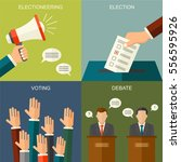 elections and voting concept... | Shutterstock . vector #556595926