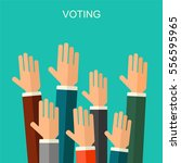 election voting background.... | Shutterstock . vector #556595965