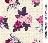 elegant botanical seamless... | Shutterstock .eps vector #556598338