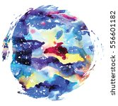 watercolor galaxy background.... | Shutterstock .eps vector #556601182