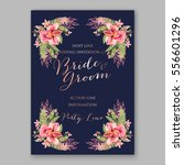 alstroemeria wedding invitation ... | Shutterstock .eps vector #556601296